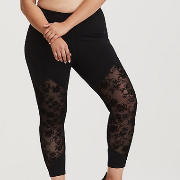 2f5b5fdecb459 torrid Pants | Black Floral Mesh Active Legging | Poshmark